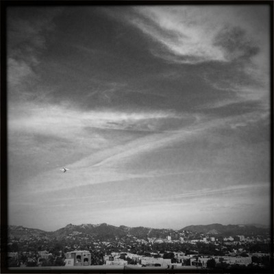 Endeavour over Hollywood.