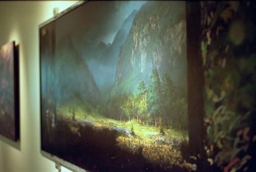 "rcjohnso:  Original matte painting  on glass for Kurosawa's ""Dreams."" ILM headquarters, San Francisco"