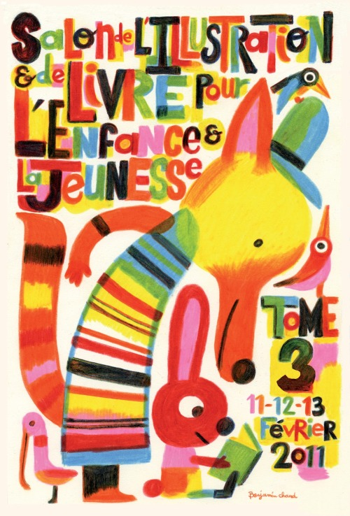 carnetimaginaire:  Benjamin Chaud, Affiche Salon de l'Illustration