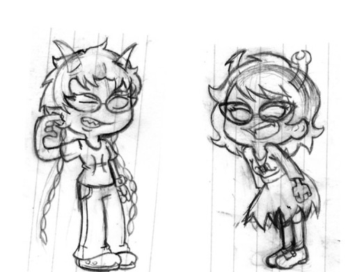 "preview sketch: Meenah and Aranea Finished drawing is done. Check it out on my page ""my sketches"" Thanks!"