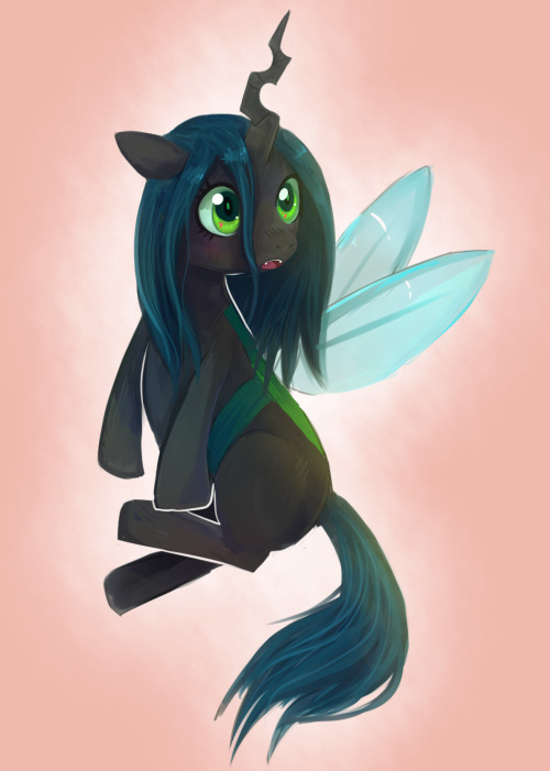 rinkythecow:  doop Younger Queen Chrysalis I suppose  cute cute cute cute cute