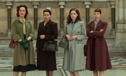 (via Hello, tailor.: The Bletchley Circle) The fashion of the poor. People often forget that post-WWII, Britain stayed on rationing for years and years. Clothes were hard to come by and make-up even more so.