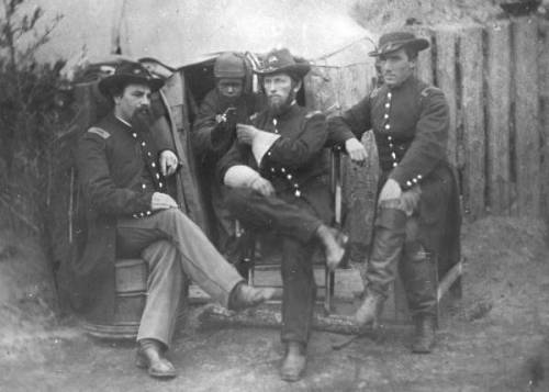 Tintype Photograph of Members of the 75th Ohio Infantry in Jacksonville Florida State Archives