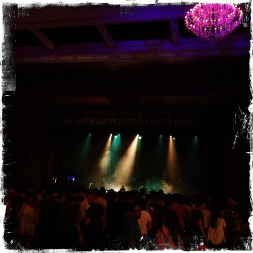 Awaiting M83 at the Fillmore, Miami Beach, FL