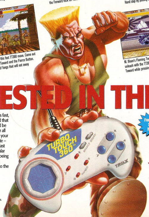 griphus:  (Electronic Gaming Monthly #53, December 1993) We've replaced Guile's face with one of the California Raisins, let's see if our readers notice the difference.