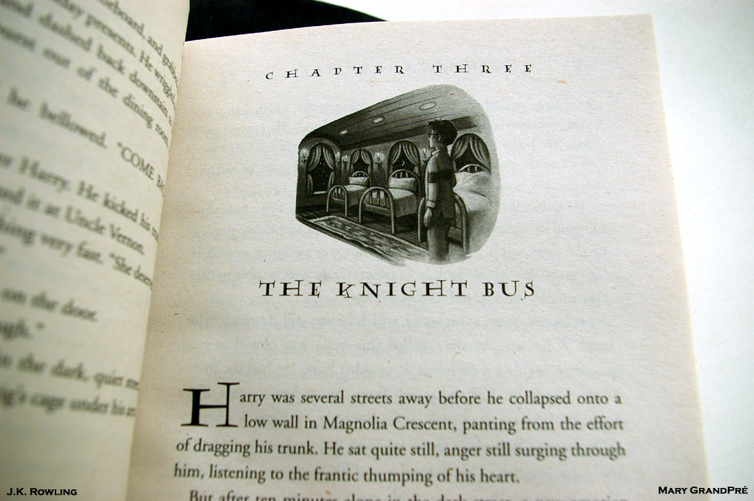 The Knight Bus. The Art of Mary GrandPré: Harry Potter and the Prisoner of Azkaban: Chapter Three: By J.K. Rowling: 1999. Comic-Con. San Diego. 2012. 5th Avenue: Dining Al Fresco at the Burger Lounge.