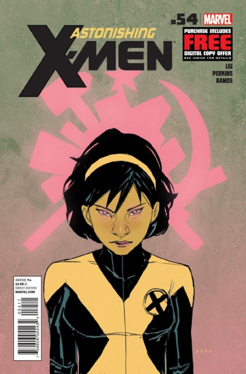 Astonishing X-Men v3 #54, November 2012, written by Marjorie Liu, penciled by Mike Perkins