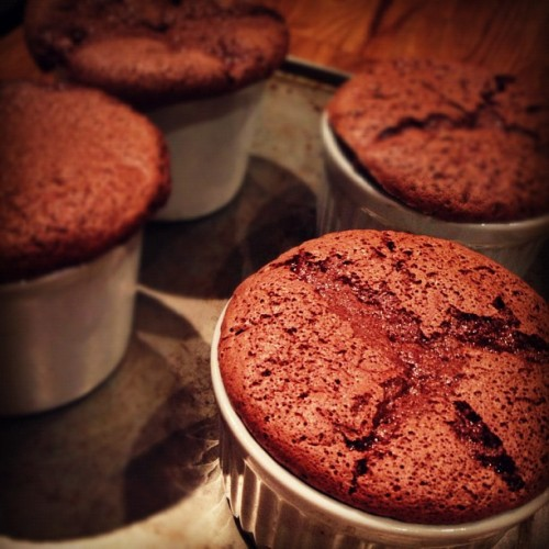 Late night soufflés. I swear I'm gonna cut when my sister leaves! #chocolate #phat #foodporn #instafood #fat #temptation (Taken with Instagram)