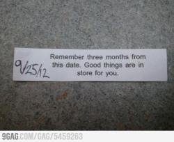 9gag:  Well-played, fortune cookie.  Ahahah Maya Attack