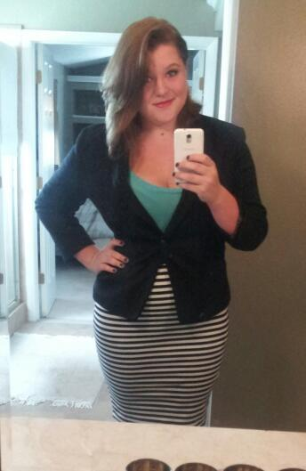 curveappeal:   Blazer: $25 Skirt: $12 Feeling fantastic about your curves: Priceless.