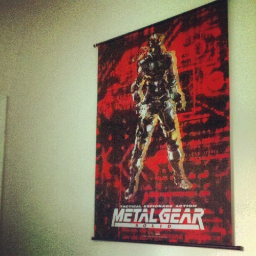 If I do say so myself, doing it right. #mgs #solidsnake #metalgearsolid (Taken with Instagram)