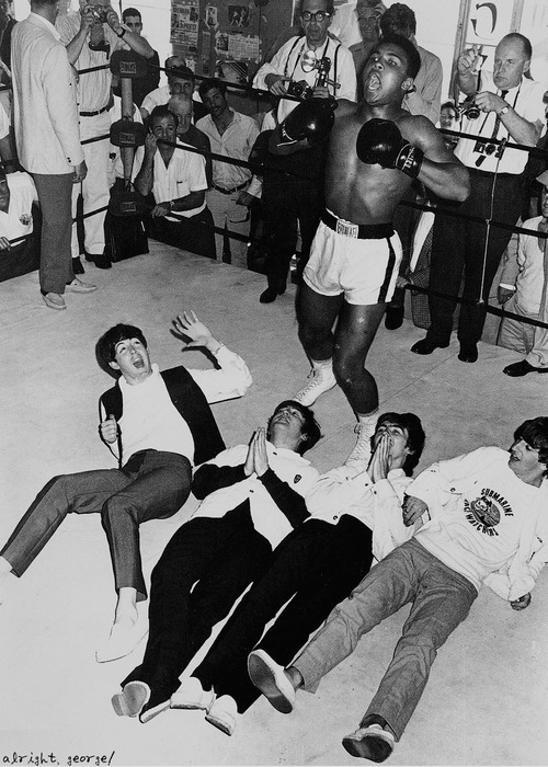 The Beatles and Muhammed Ali, 1964.