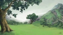 Photoshop painting for a background in my graduation film. Completed Sept. 26th, 2012