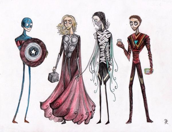 (via Tim Burton-Inspired Avengers [Pics])