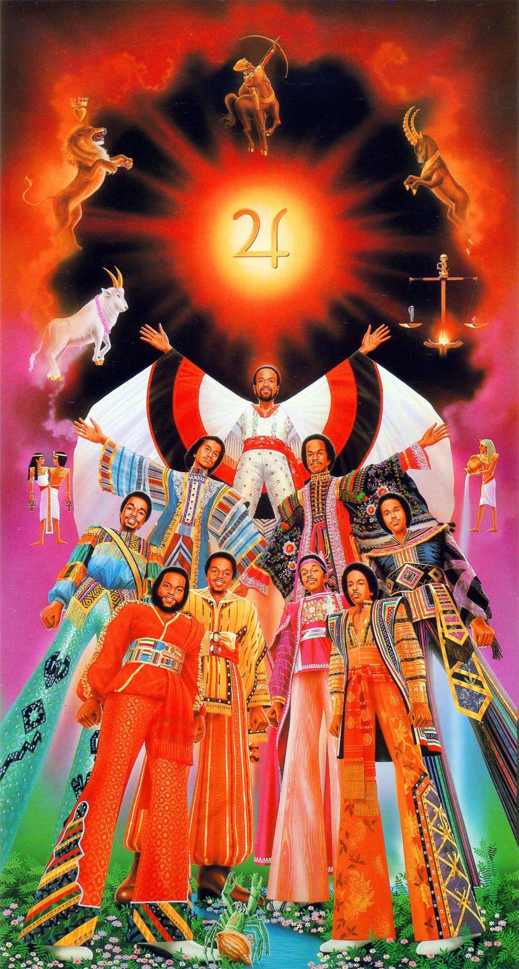 Album art for Earth, Wind, and Fire's 1979 album I Am, by Shusei Nagaoka.   Lots more spaced out '70s/'80s artwork here.
