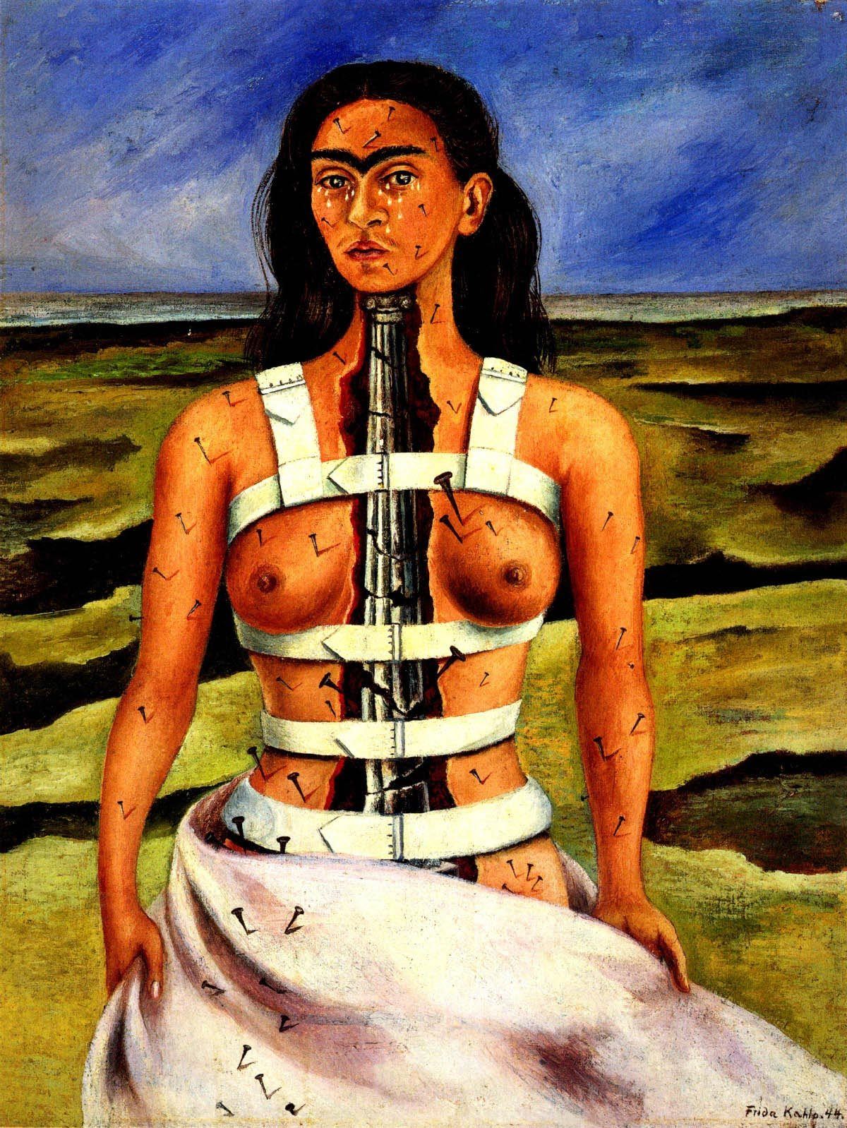 'The Broken Column' by Frida Kahlo, 1944