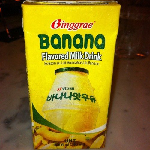 Binggrae Banana Flavored Milk Drink available at Tours les Jours Php48.00 - 9/10 #binggrae #banana #milk #korean #drink #igdaily #igersmanila #funchomp http://funchomp.com  (Taken with Instagram)