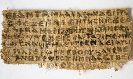 slavin:  Not so interested in how one piece of papyrus conflicts with another piece of papyrus. But very interested in this part:  This explosive story has already been blocked by FaceBook, which won't allow posting of the New York Times story. (klaatu)  Which happens how often, exactly?  Out of curiosity, I tried positing some of the Times' coverage to Facebook and … now my wall looks like I'm exceptionally interested in Jesus' wife. So … don't believe everything you read.