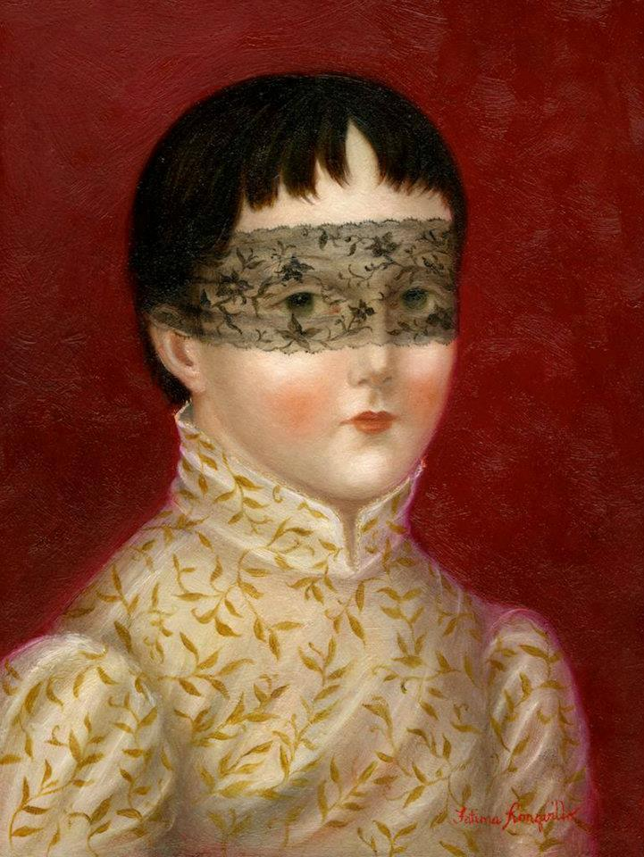 felixinclusis:  sisterwolf: Girl with Lace Mask - Fatima Ronquillo