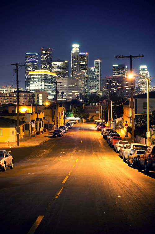 fuckyeahstreetlights:  downtown view from chinatown (NEX-5) (by Eric 5D Mark III)  awesome marview xD
