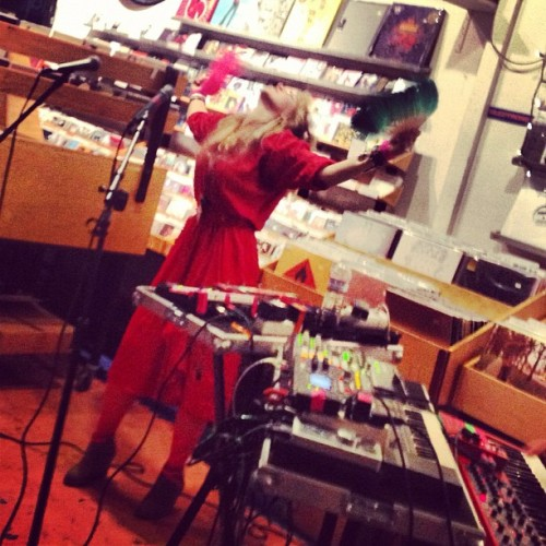 Malin of Niki and the Dove (Taken with Instagram at Other Music)