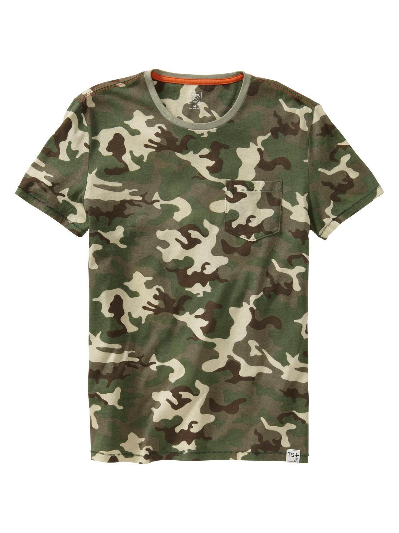 GAP x GQ, Todd Snyder camo pocket tee.