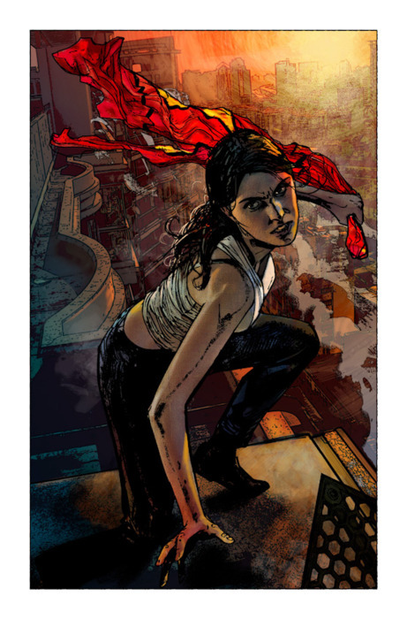 brianmichaelbendis:  My favorite drawing of Spider woman by Alex Maleev