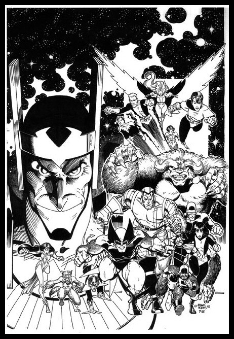 brianmichaelbendis:  X-men Asgardian War cover by Art Adams  Always loved this Art Adams cover.