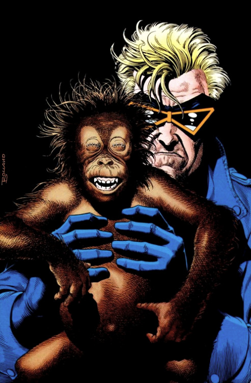 Animal man and the monkey by Brian Bolland