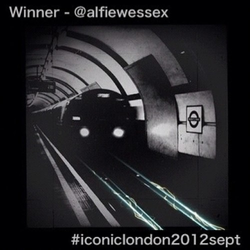 #iconiclondon2012sept - winner  Finally, after hours of thinking, mulling, pondering and just a little bit of hair tearing we can announce that @alfiewessex's fantastic shot of the tube is the winner of this month's, transport themed Iconic London competition and gets that fantastic prize from @hatchcraft.  Congratulations to Dean and the biggest thank you to every one of you who took the time to tag a shot that made up over 1,500 contributions! (Taken with Instagram)