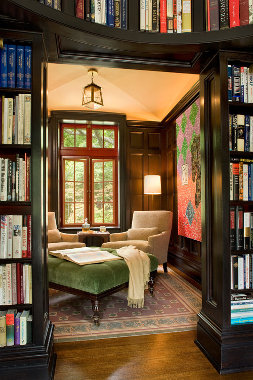 melodysmuse:  Cozy Sitting Room with Library