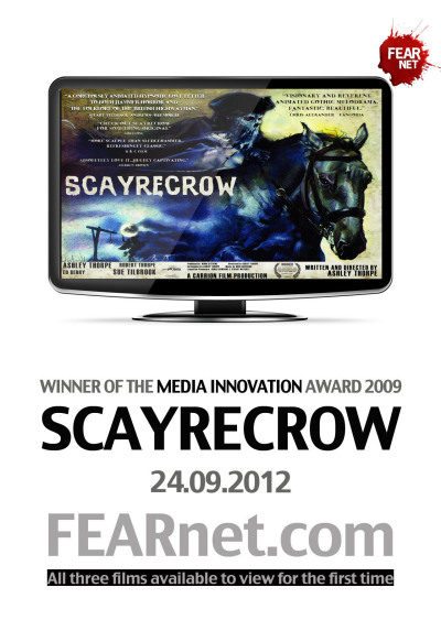 Showing now on FEARnet - Carrion Films 'SCAYRECROW'… http://www.fearnet.com/shorts/scayrecrow