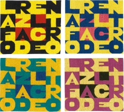 "Boetti at auction: @Sothebys will offer this fantastic set of 4 tapestries ""La Forza Del Centro"" (The Strenght of the Center) est 60-80,000 GBP, London 13 Oct 2012 Contemporary Art Day Auction.Each embroidered arazzo is 22 x 24 cm.The 4 pieces are of amazing beauty, with bright stunning colour combinations, and bear a phrase quite rare to appear on the market.This lot is very interesting as the 4 works are individual pieces, each with its own certificate from the Archivio Boetti and with 4 different archival number. So this is not a fixed set of 4 (Boetti made fixed sets too), as each piece is an independent work.Of course the 4 pieces alltogether look just great, so it really looks like a great opportunity, and the pre-sale estimate is very attractive."