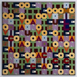 "Boetti in Barcellona: Fundació Josep Suñol opens today the ""5th Year Anniversary Exhibition"" with works by Alighiero Boetti, Pablo Picasso, Andy Warhol, Man Ray, Zush, Jaume Plensa, Luis Gordillo, Salvador Dalí and Antoni Tàpies. Image: 'Mille novecento settantotto', 1978, embroidered tapestry arazzo. Fundació Josep SuñolPasseig de Gràcia 98, Barcellona, Spainhttp://www.fundaciosunol.org/exposicions/exposicions.php Exhibition: 27 September, 2012 – 2 March, 2013"