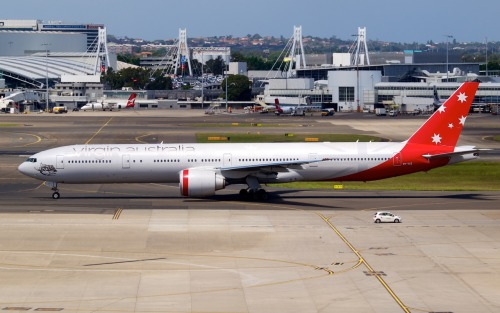 Virgin Australia Boeing 777-300ER  Type: Boeing 777-3ZG(ER) Registration: VH-VOZ Location: Kingsford Smith International Date: 02/12/2011