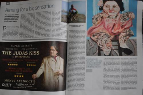 An article/interview about me in last Sundays Sunday Times Culture Magazine. (New Sensations)