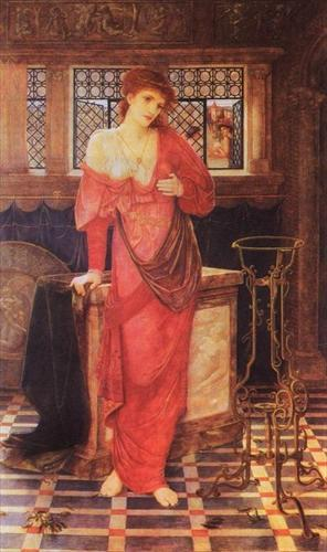 John Melhuish Strudwick(1849 - 1937) Isabella and the pot of basil