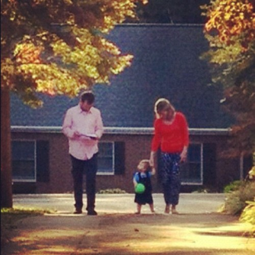 What I saw when I came home yesterday: the husband, Silas, and my mother-in-law. What a blessing to live so close to family! (Taken with Instagram)