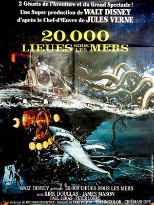 Vintage Poster: 20.000 Lieues Sous Les Mers Directed by: Richard Fleischer Starring: Kirk Douglas, James Mason, Paul Lukas, Peter Lorre American Title: 20000 Leagues Under the SeaArtist: AnonymousCirca: 1970'sOrigin: FranceBuy It Here: http://www.la-belle-epoque.com/vintage-poster/Movie—-Film/1537/20-000-Lieues-Sous-Les-Mers The New York Film Festival is in full swing and theres a great cinematic buzz about the city. We are celebrating it by sharing our favourite film posters for the whole duration of the festival. Today we have a real classic. 20000 Leagues Under The Sea! Starring Kirk Douglas, this 1970s adventure movie is a true favourite to Father's and Grandfather's everywhere.