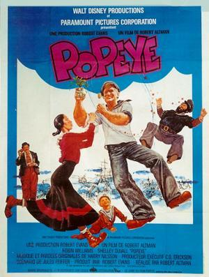 Vintage Poster: PopeyeDirected: by Robert Altman Starring: Robin Williams, Shelley Duvall, Ray Walston, Paul Dooley, Paul L. Smith Circa: 1980Origin: FranceBuy It Here: http://www.la-belle-epoque.com/vintage-poster/Movie—-Film/1536/PopeyeToday's movie poster is a hilarious family classic Popeye.  Based on a classic cartoon and starring the insanely famous and very talented Robin Williams, this film was set for success. In reality the takings were quite modest. The film was shot on location in Malta, the area now operates as a low budget tourist attraction. Which we can personally recommend!!! :)