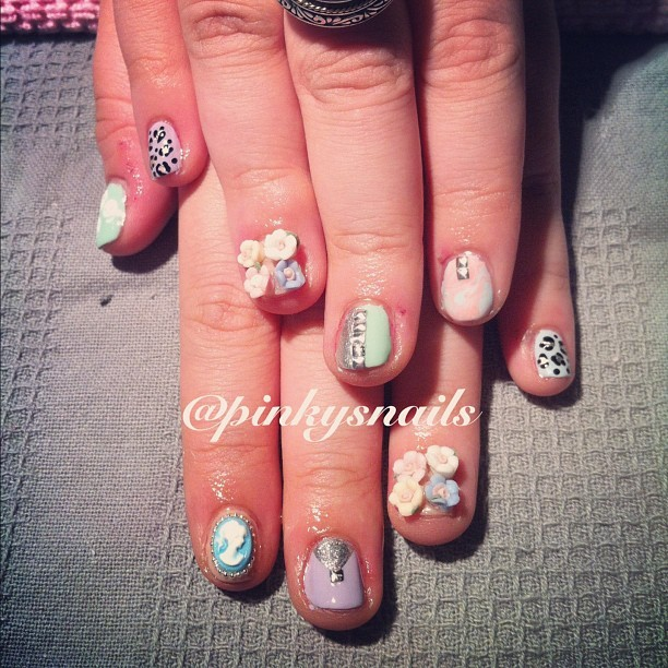 Pretty pastels by Esther! #nailart  (Taken with Instagram)