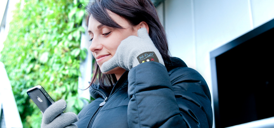 hi-Call – Bluetooth talking glove  WOW! This is something.