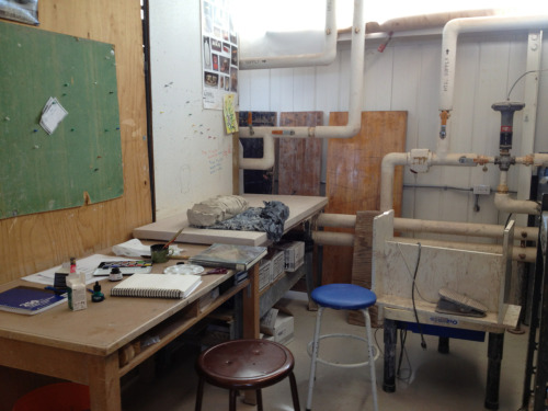 My new studio space at the school. This is pretty much going to be my home for the next 2 semesters