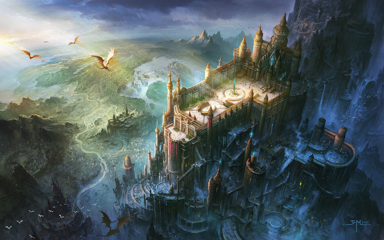 cindypon:  asian inspired fantasy kingdoms? win. also, GORGEOUS. artmonia:  Ming Fan.
