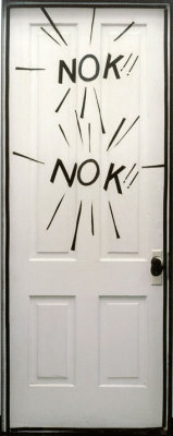 sotlylaisse:  Roy Lichtenstein, NOK!! NOK!! (Door from A Room, Aspen), 1967