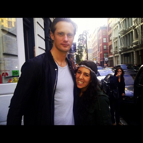askarsswedishmeatballs:  Alex with a fan in NYC