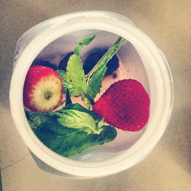 Yummy #water with mint, basil, strawberries and blackberries… I squeezed the berries just a little to help the flavor come out :) this really helps curb hunger and avoid munchies #recipe #healthyliving #healthyeating #hardwork #healthy #instagramfitness #iputdownthefork #eatingright #eattolive #eatclean #makechanges #motivation #motivate #gethealthy #lifestyle #myfitnesspal #weightlossjourney #weightloss #workhard #traindirty #trainhard #fitspo #inspiration #inspire #healthyrecipe #mealtime #fitspiration  (Taken with Instagram at my kitchen :))