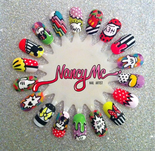 nancymcnails:  °o° MICKEY MASHUP! °õ°  instagram: nancy_mc