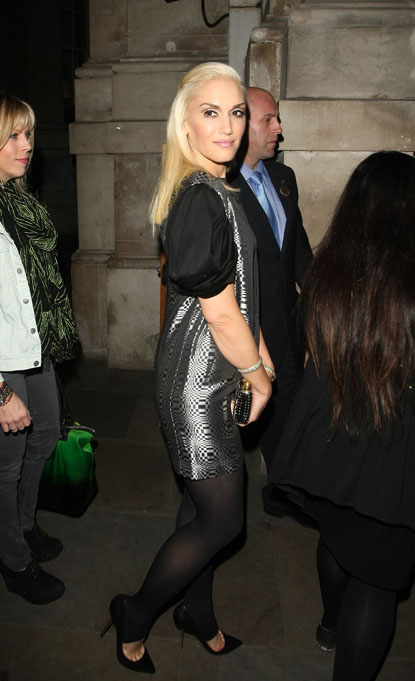 On Sept 26th Gwen Stefani enjoys a night out at the Garage in Highbury, Islington, London