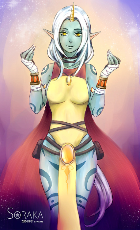 thekawaiiod:  League of Legends - SORAKA by ~Foliummori